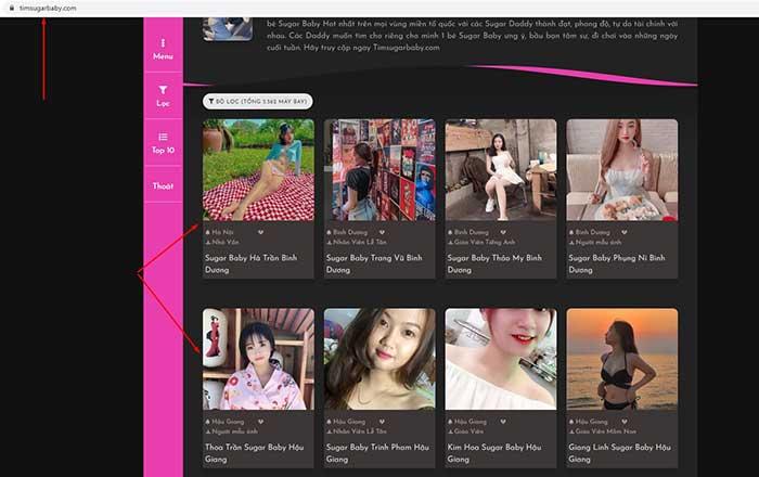 truy cập vào timsugarbaby.com lấy link nhóm zalo