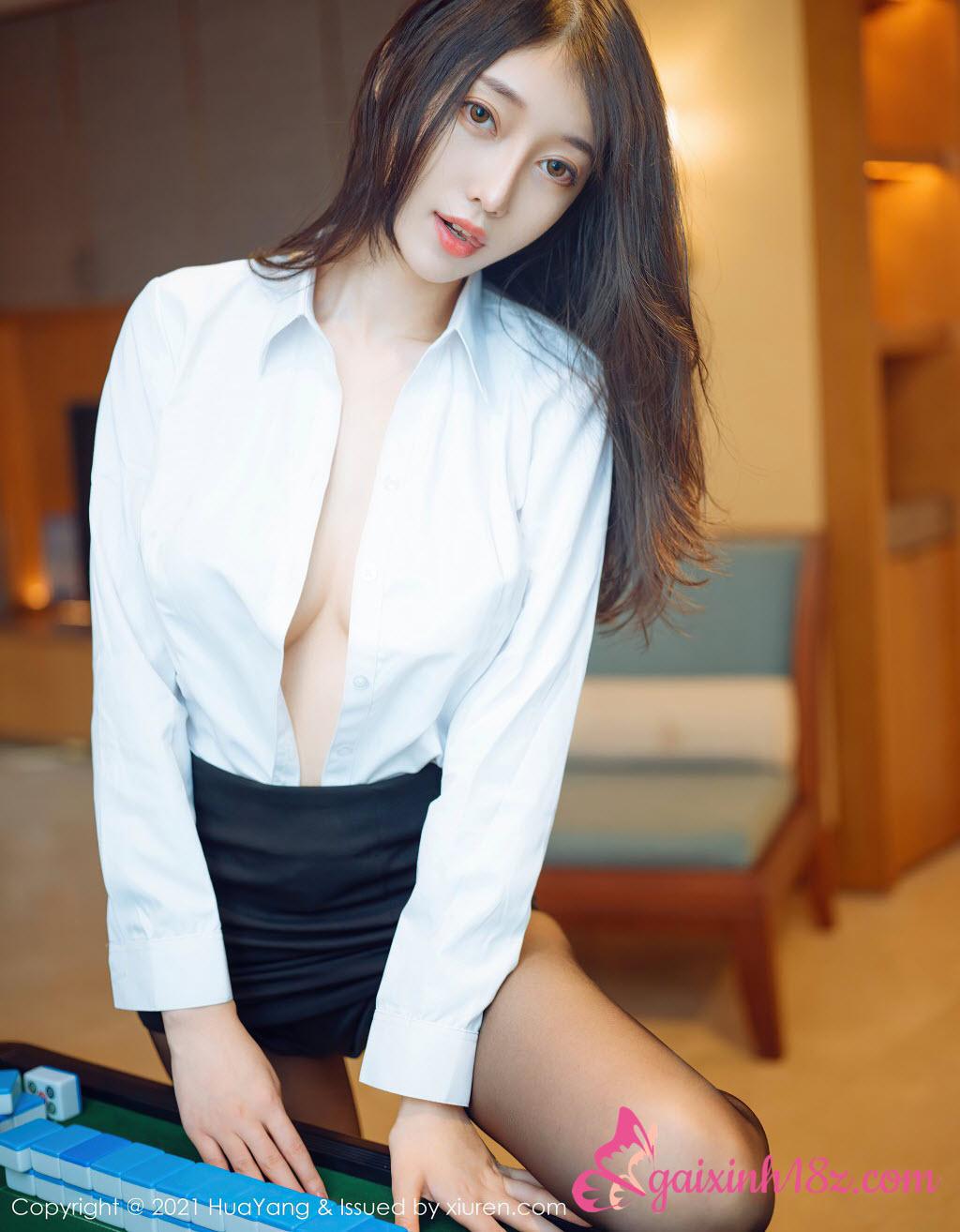Mlem với bộ ảnh gái xinh khoe dáng với nội y trắng | Gái